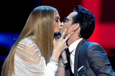 After Kissing J. Lo At The Latin Grammys, Marc Anthony Smooches With Everyone